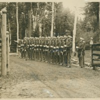 Marine Guard at Entrance to White Pine Camp