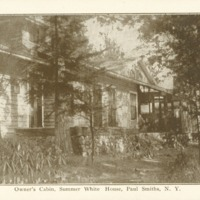 Postcard of Owner's Cabin at White Pine Camp
