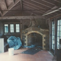 Tennis House Fireplace at White Pine Camp