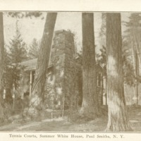 Tennis House at White Pine Camp Postcard