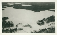Aerial Photograph of Paul Smith's Hotel and Lower St. Regis Lake in Snow